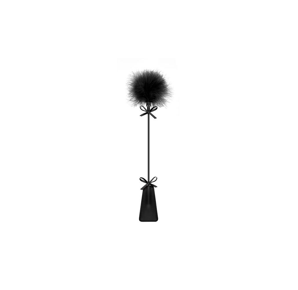 Cravache tapette pompon noire